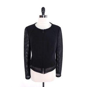 CARLISLE Modern Perforated Sleeves Hem Jacket